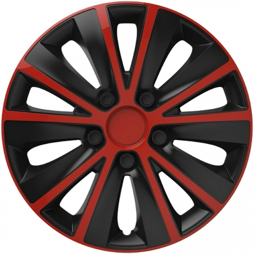 4er set radkappen radzierblenden rapide red black 15 zoll. Black Bedroom Furniture Sets. Home Design Ideas