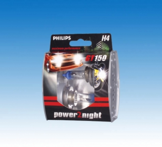 PHILIPS Power2Night GT150 H4 2er-Kit