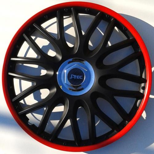 4er set radkappen radzierblenden orden black red 15 zoll. Black Bedroom Furniture Sets. Home Design Ideas