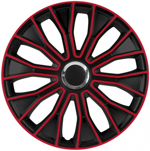 4er set radkappen radzierblenden voltec pro black red 14 zoll. Black Bedroom Furniture Sets. Home Design Ideas