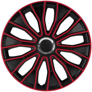 4er SET RADKAPPEN RADZIERBLENDEN VOLTEC PRO BLACK RED 15 ZOLL