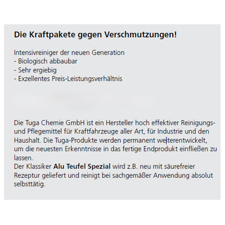 Felgenreiniger Tuga ALU-TEUFEL Spezial Gel 1000ml