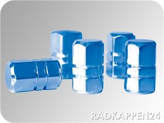 Aluminium Ventilkappen blau