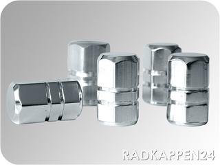 Aluminium Ventilkappen silber chrom