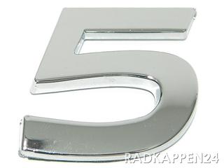 """3D Car-Logo, Zahl """"5"""""""